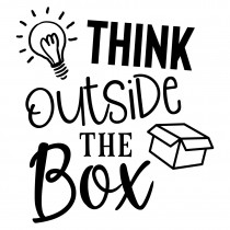 Think outside the box | Muurteksten.nl