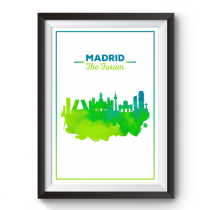 Poster Skyline Madrid